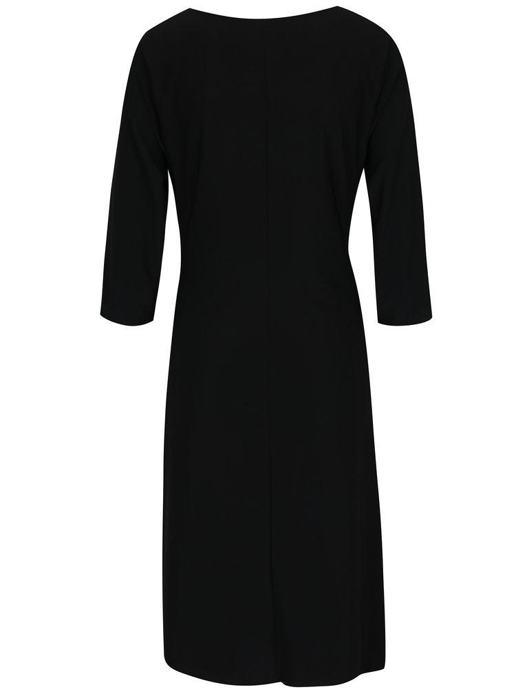 Černé šaty se zavazováním v pase M&Co