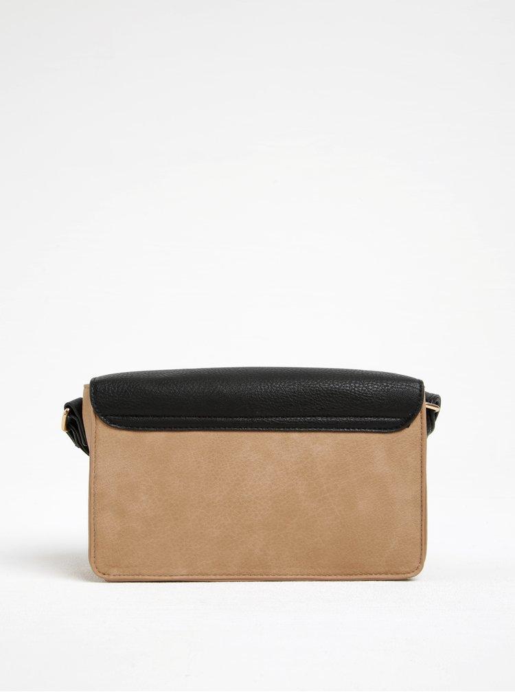 Černo-hnědá crossbody kabelka s ozdobným detailem M&Co