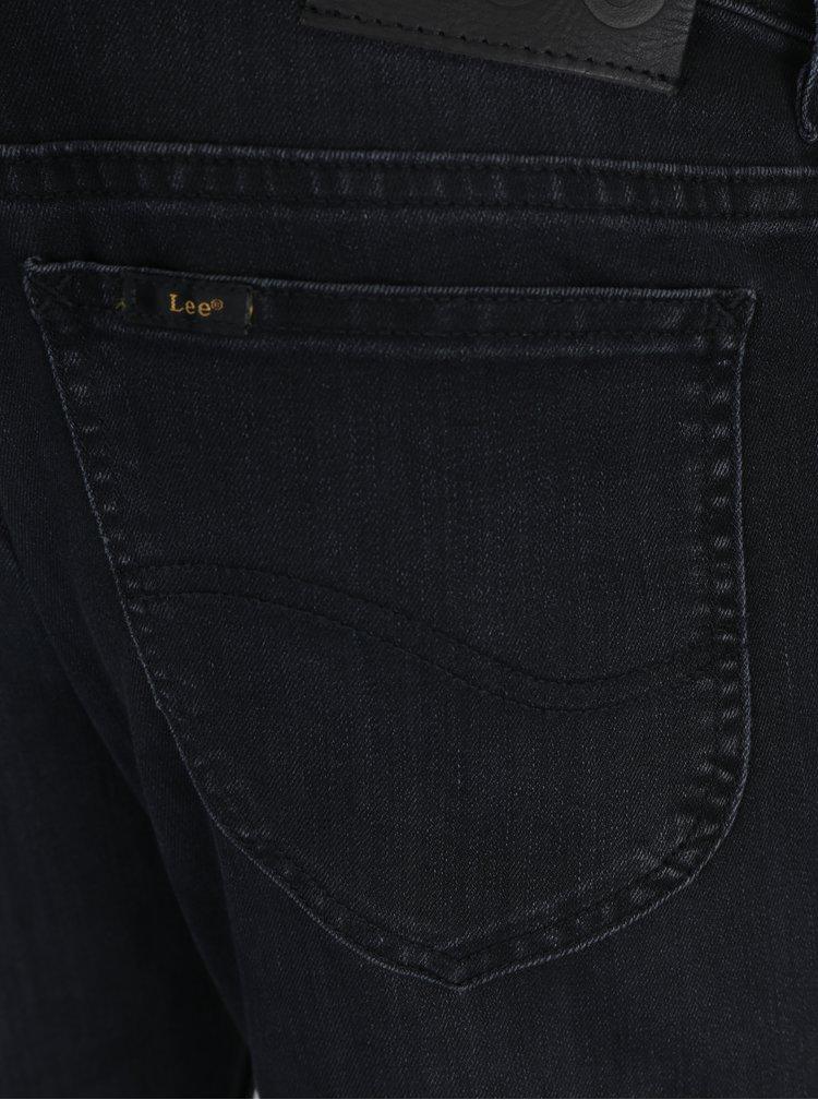Černé pánské slim fit džíny s vyšisovaným efektem Lee Rider