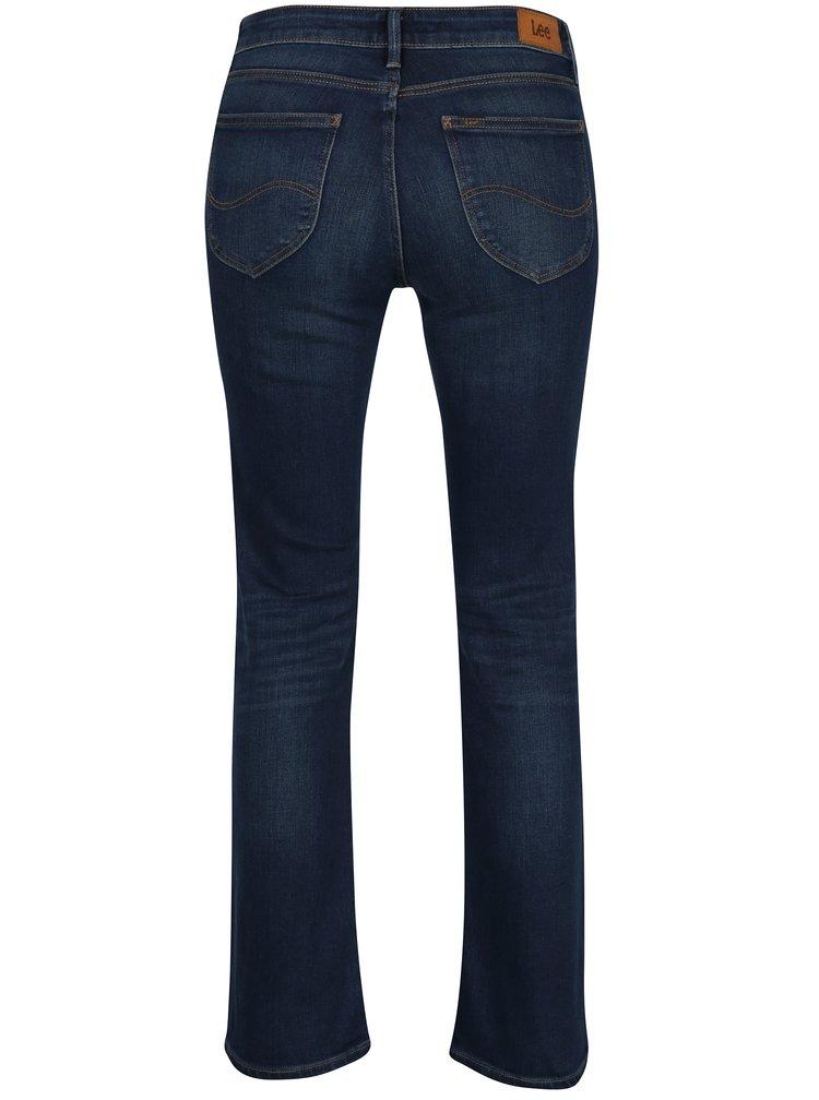 Tmavě modré dámské bootcut džíny Lee Hoxie