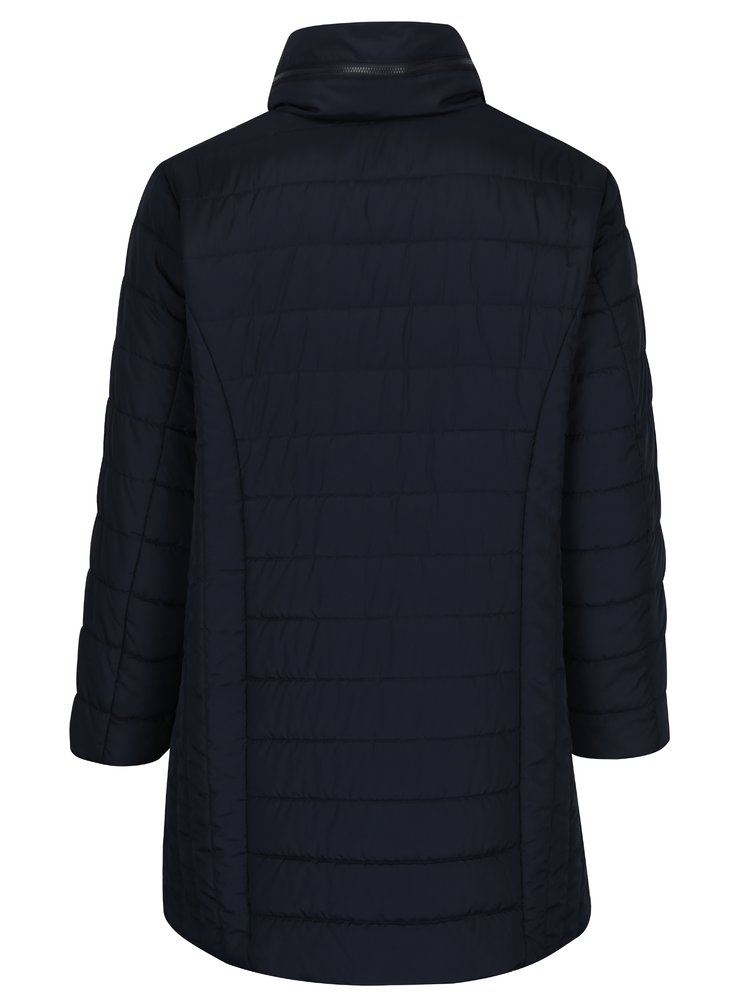 Tmavě modrý prošívaný kabát Ulla Popken
