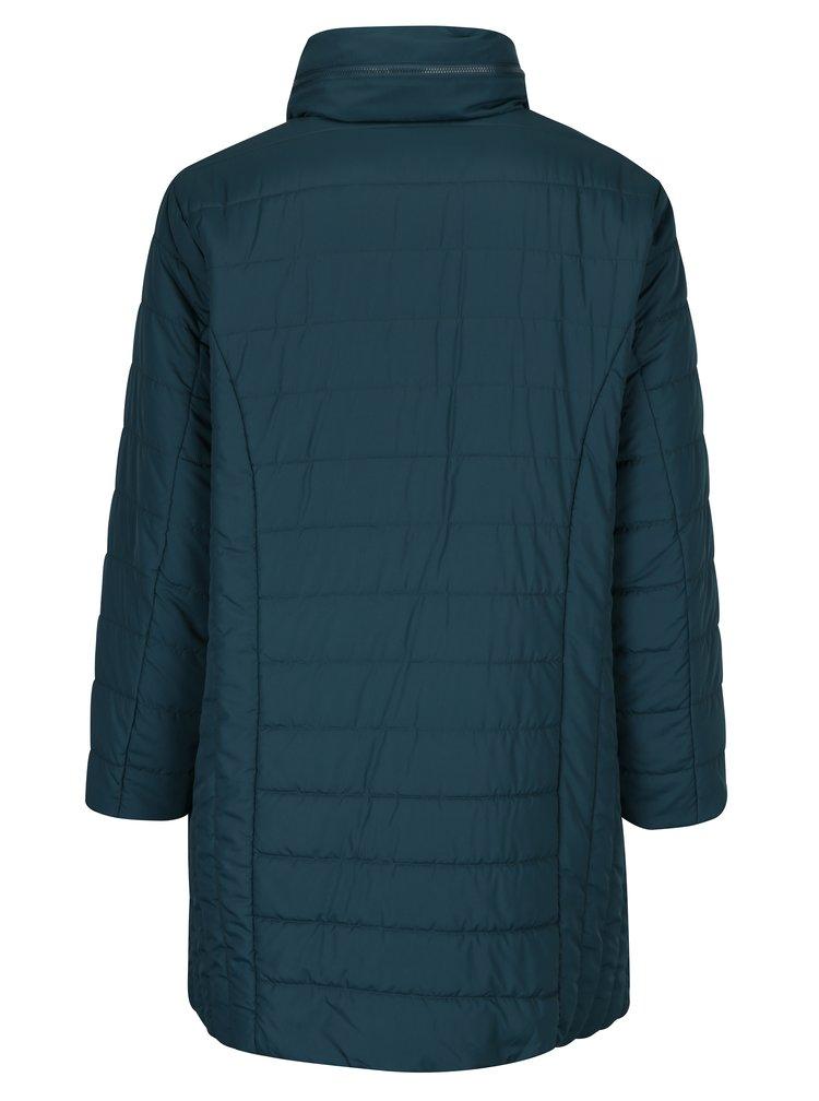 Petrolejový prošívaný kabát Ulla Popken