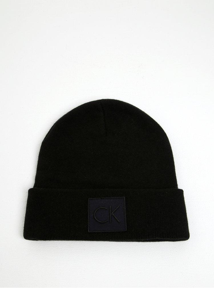 Černá pánská čepice s příměsí vlny a alpaky Calvin Klein Jeans