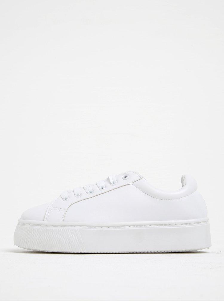 Bílé tenisky na platformě Pieces Monet