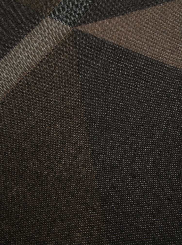 Krémovo-hnědá vzorovaná šála Pieces Jappa
