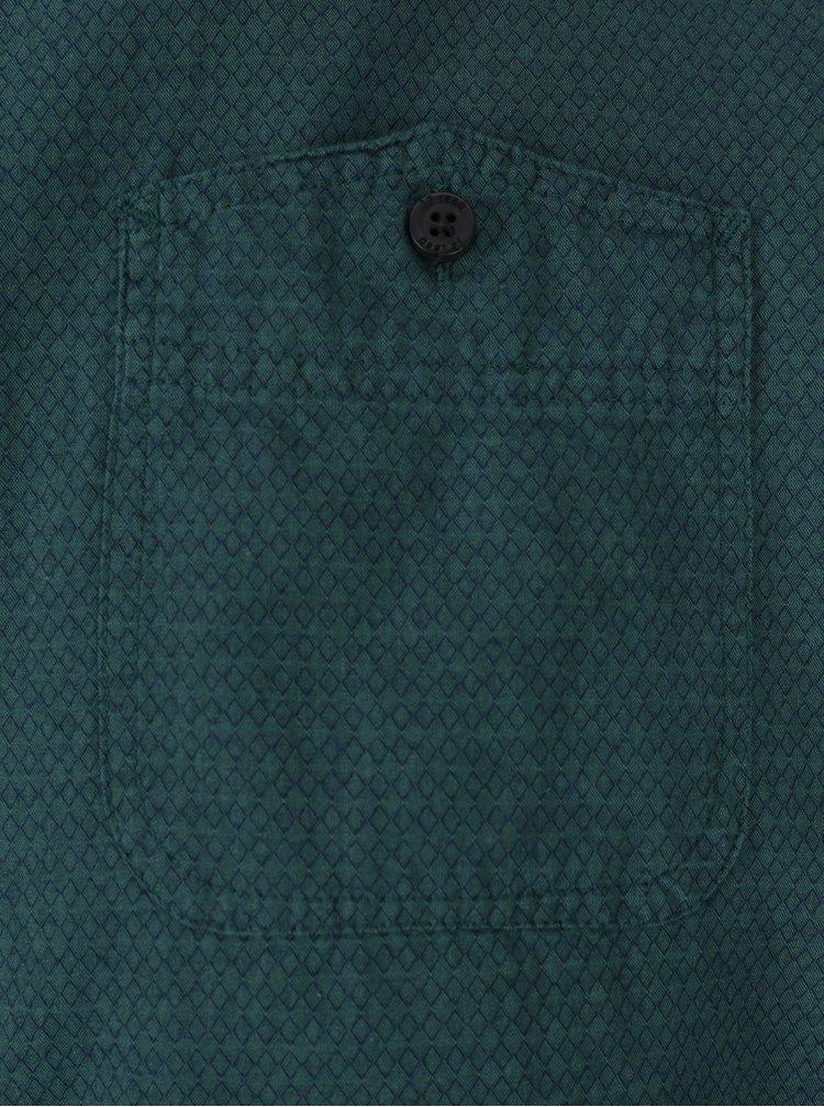 Petrolejová modern fit košile s jemným vzorem JP 1880