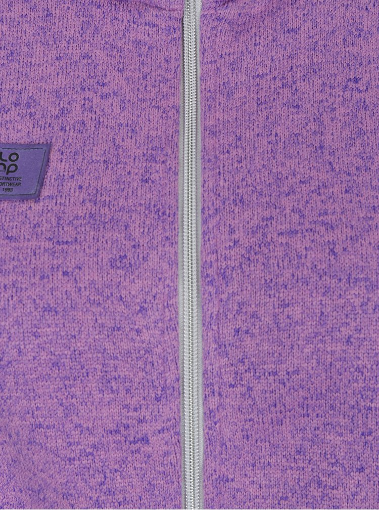 Fialová dámská dlouhá mikina na zip LOAP Ginevra