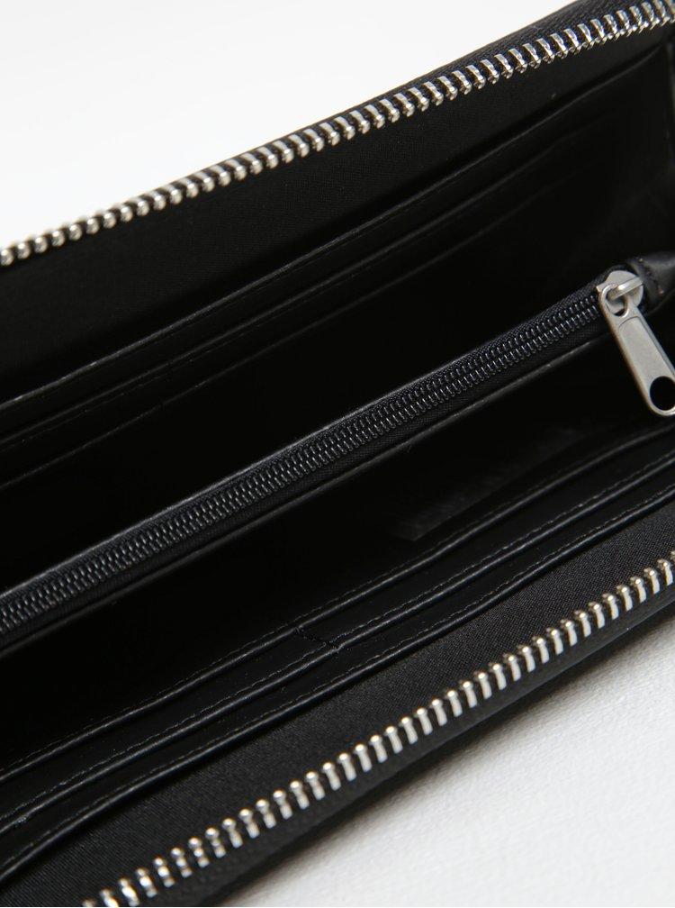 Černá peněženka s aplikací ve stříbrné barvě íPieces Jasmina