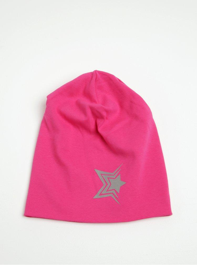 Růžová holčičí čepice s potiskem Name it Moppy