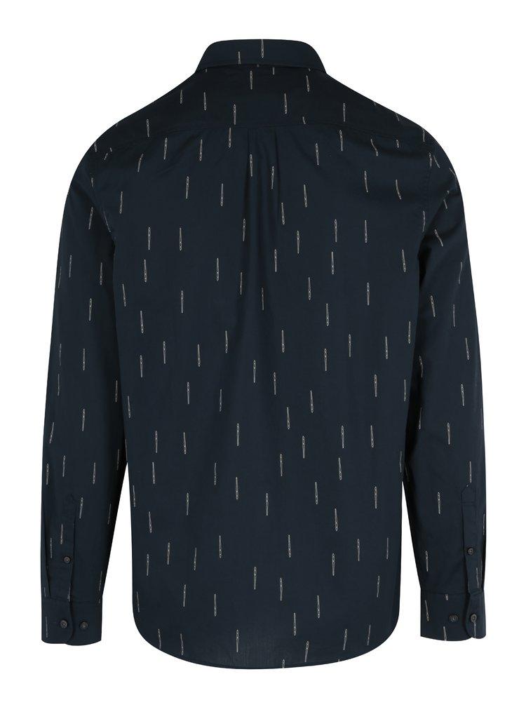 Tmavě modrá vzorovaná slim fit košile Original Penguin