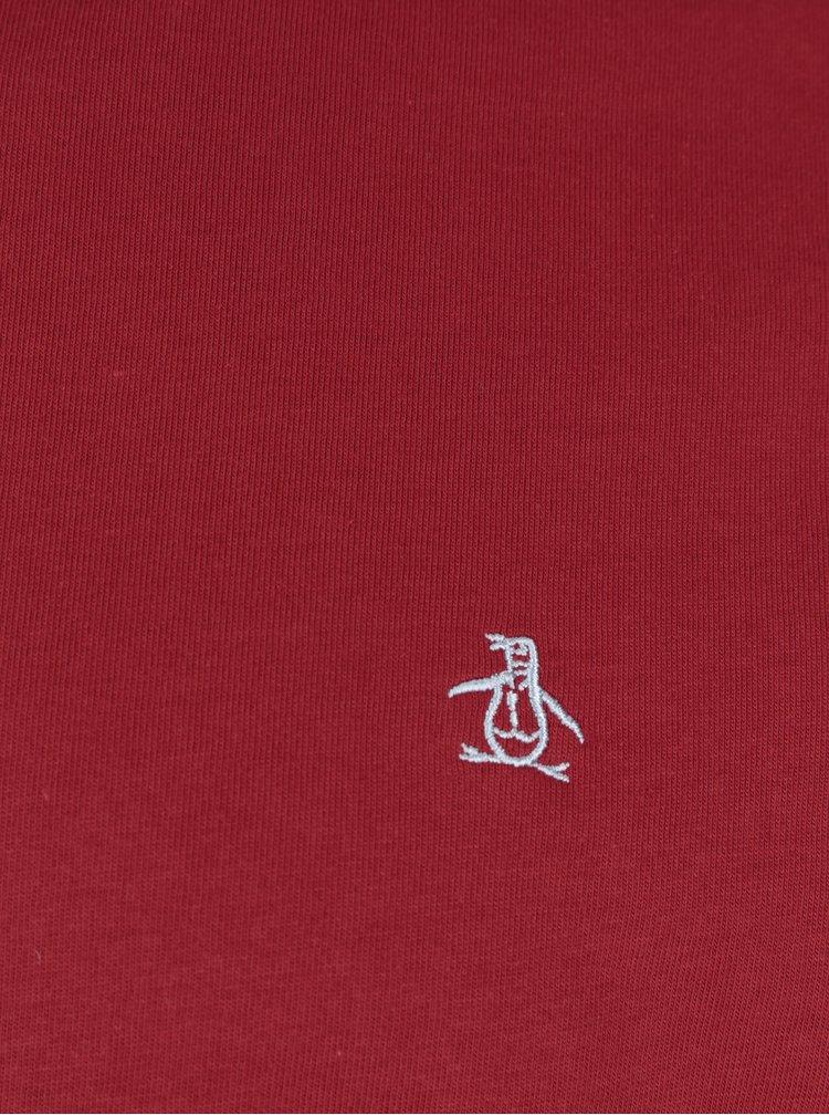 Tricou roșu basic Original Penguin Pin Point Embroidery