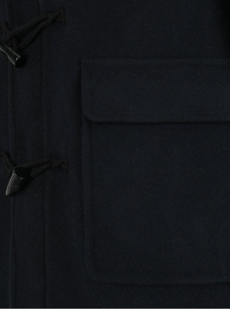 Tmavě modrý vlněný kabát s kapucí ONLY & SONS Ebbe