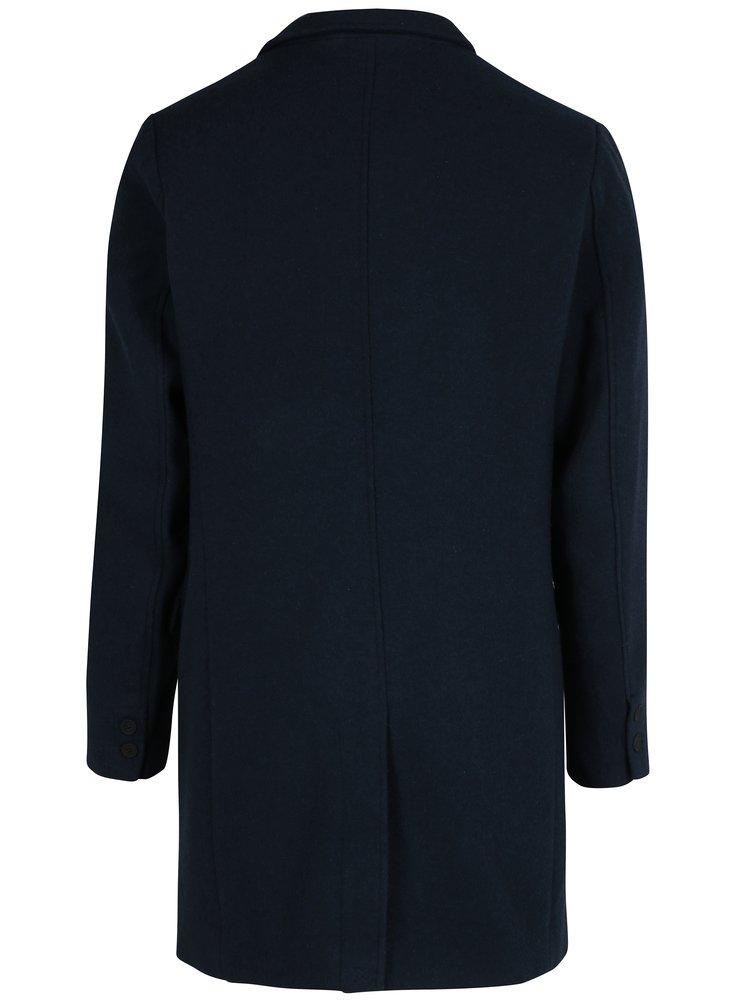 Modrý vlněný kabát ONLY & SONS Julian