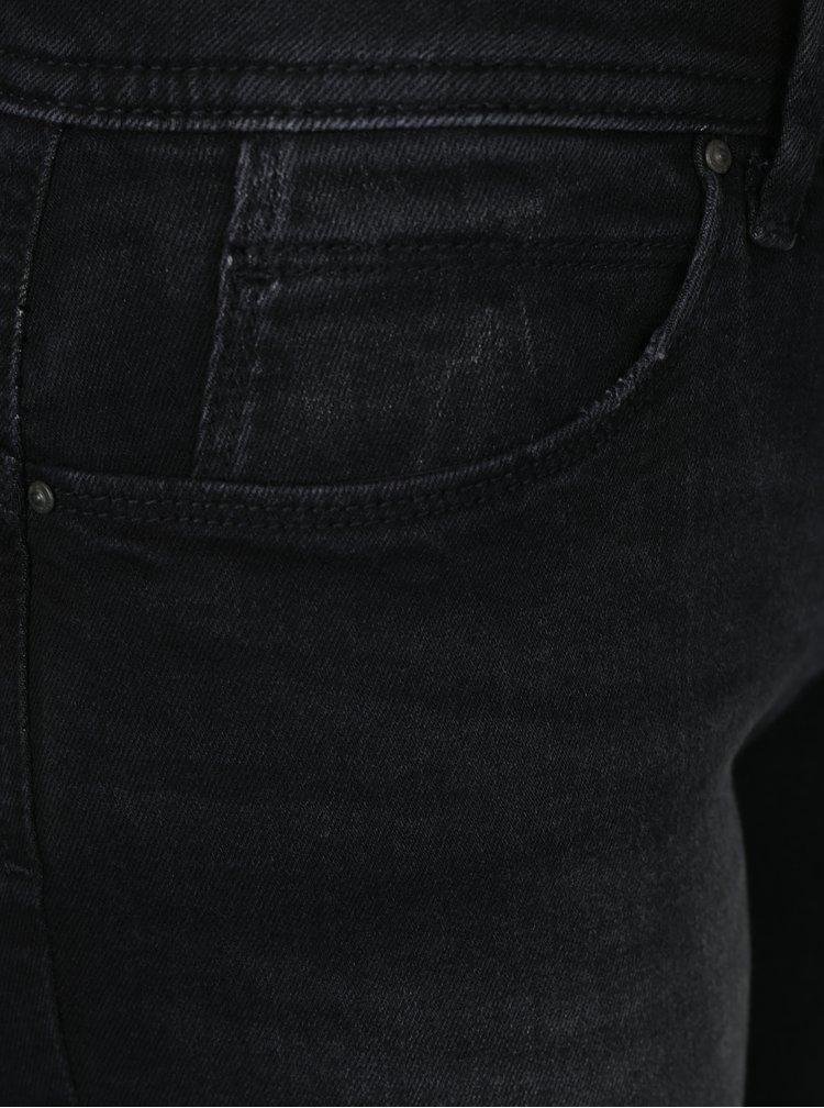 Černé slim džíny s vyšisovaným efektem ONLY Sisse