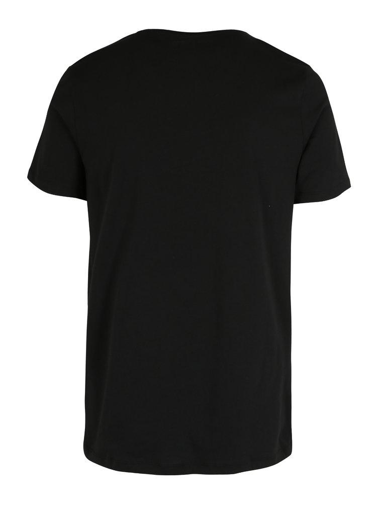 Černé tričko s potiskem ONLY & SONS Malthe