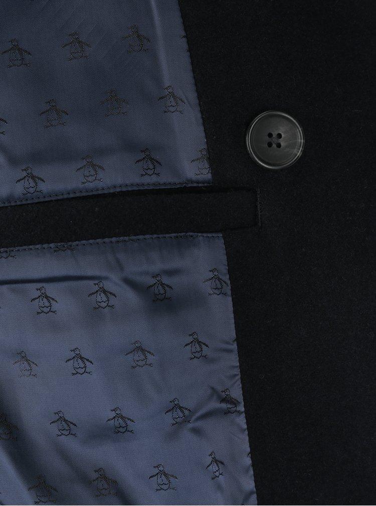 Tmavě modrý vlněný krátký kabát Original Penguin
