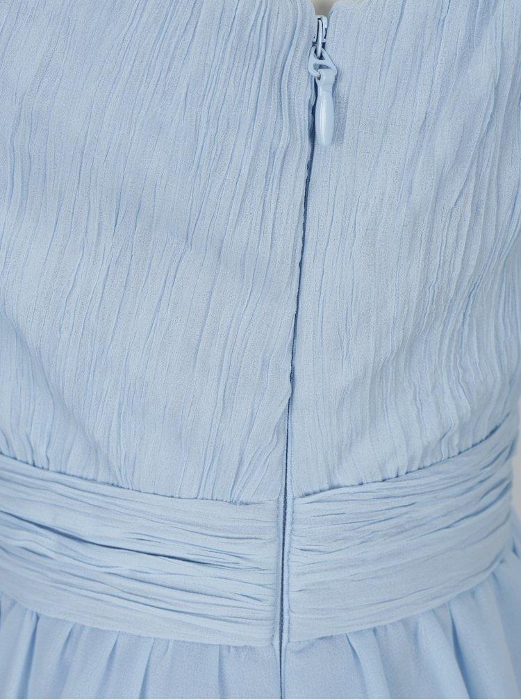 Světle modré maxišaty Chi Chi London Rihanna