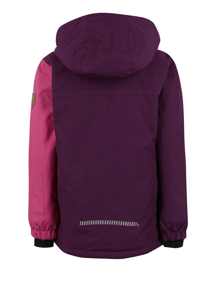 Růžovo-fialová holčičí zimní bunda Name it Storm
