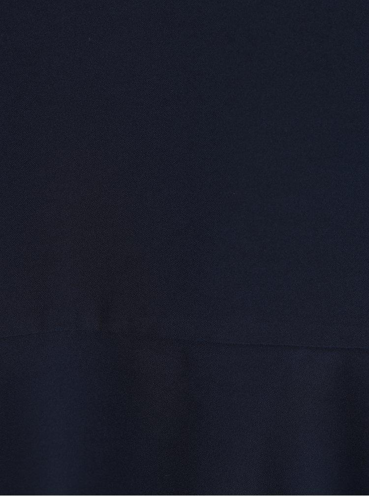 Tmavě modrá halenka s volánem Selected Femme Cilsa