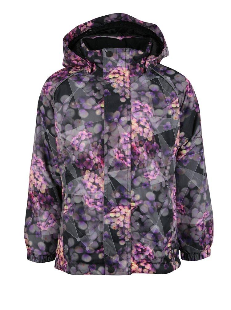Černo-fialová holčičí zimní bunda Name it Rise