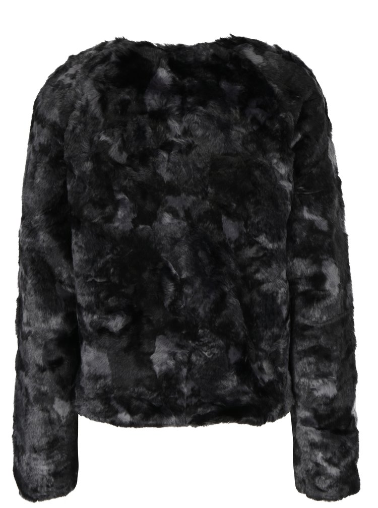 Jacheta din blana artificiala neagra ONLY Winnie