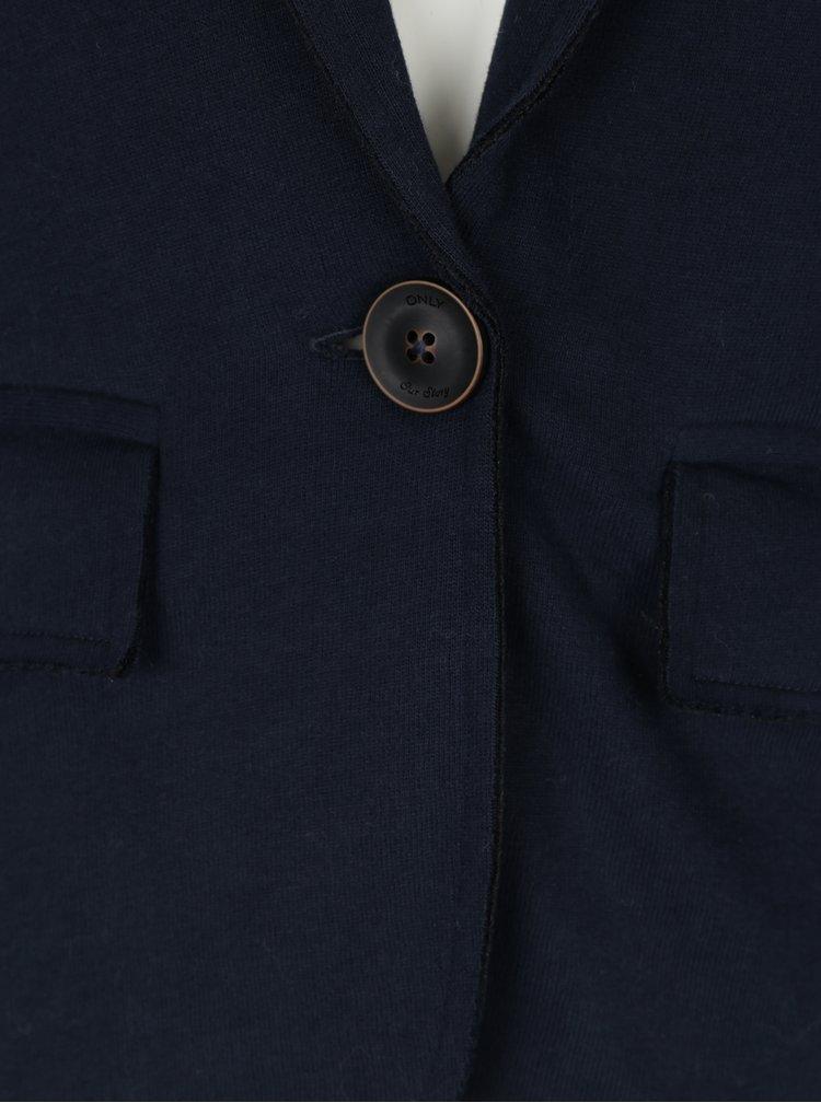 Tmavě modré mikinové sako ONLY Elisa