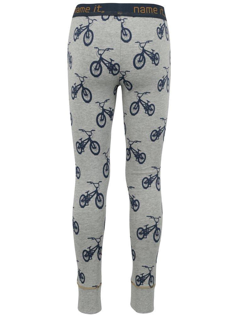 Šedé klučičí pyžamové kalhoty s potiskem Name it Varnyva