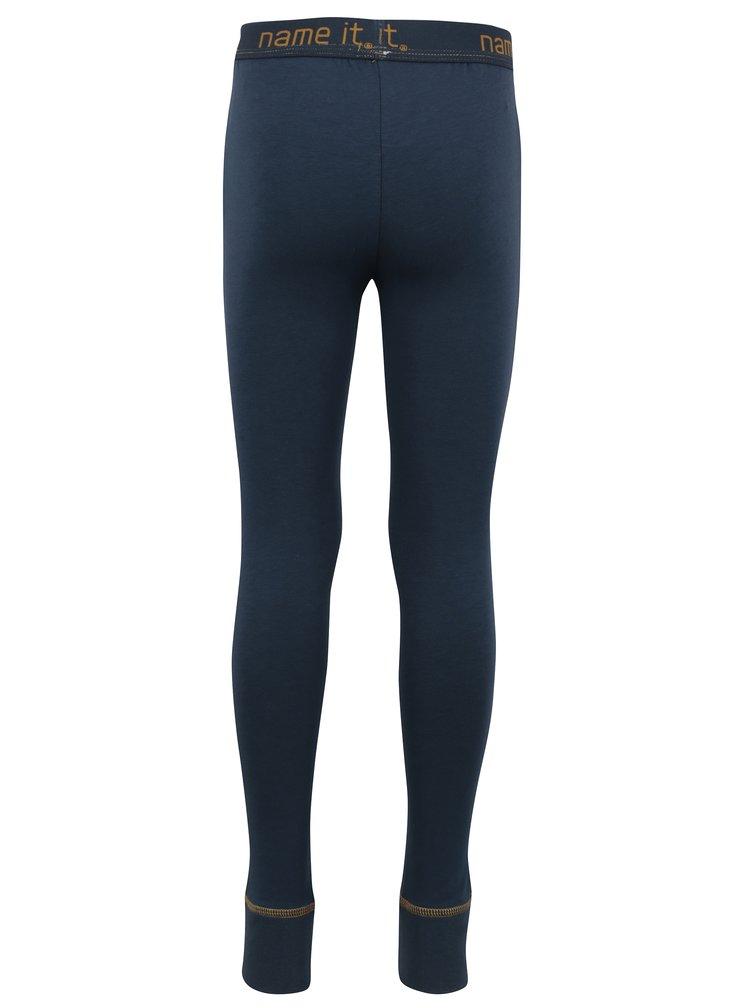 Tmavě modré klučičí podvlékací kalhoty Name it Varnyva