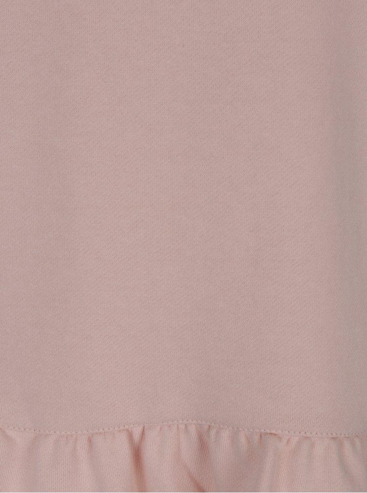 Světle růžová lehká mikina s volánem VILA Mista