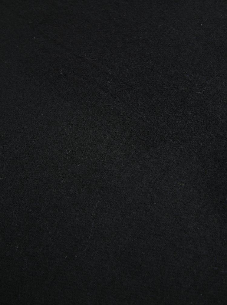 Černá šála s příměsí vlny Pieces Jira