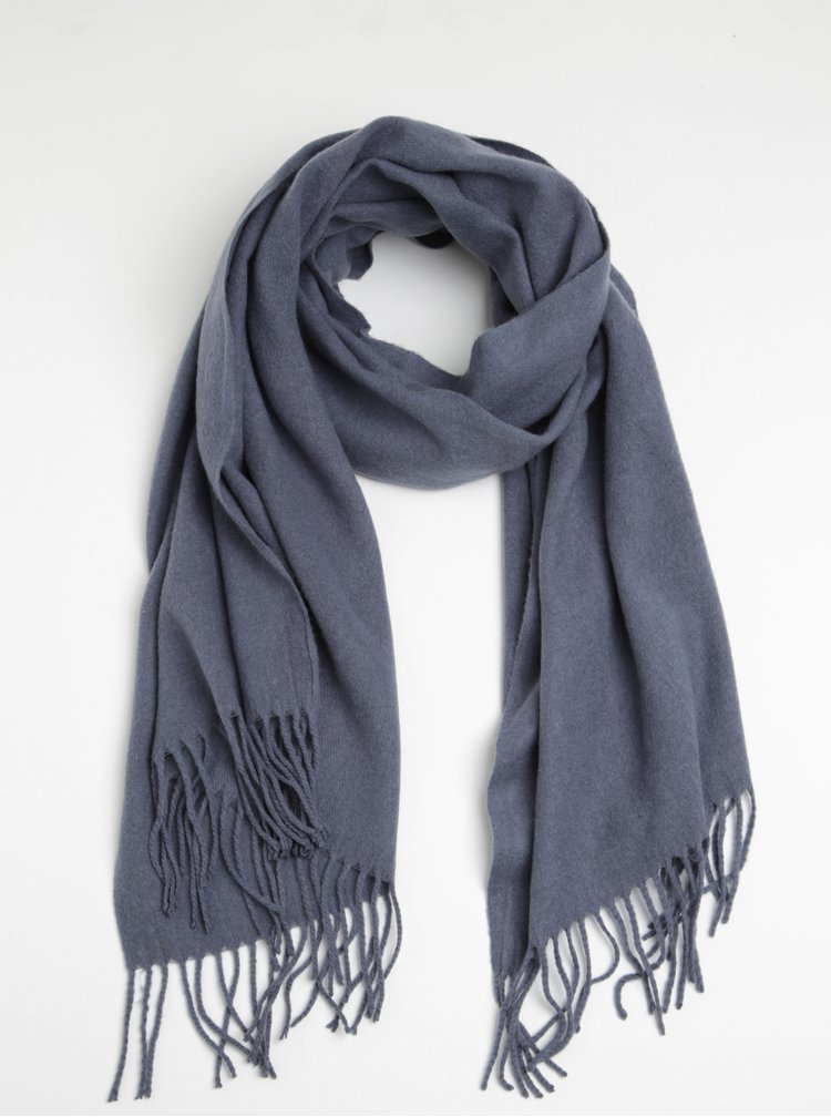 Esarfa albastra deschis din amestec de lana Pieces Jira