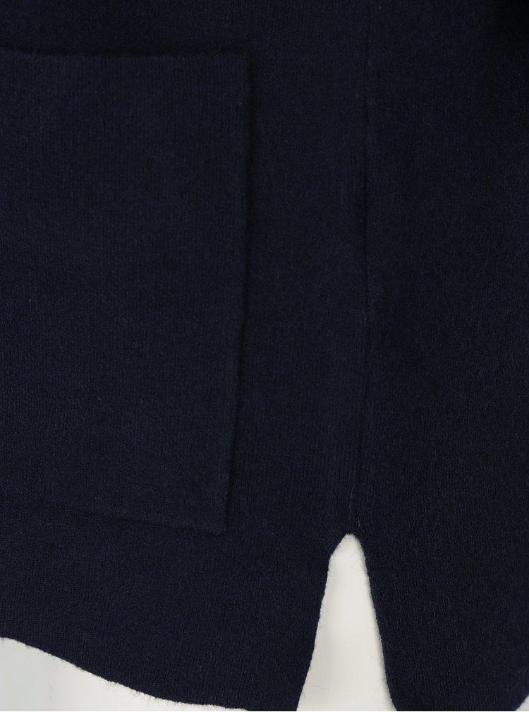 Tmavě modrý svetr s kapsami Selected Femme Inneta