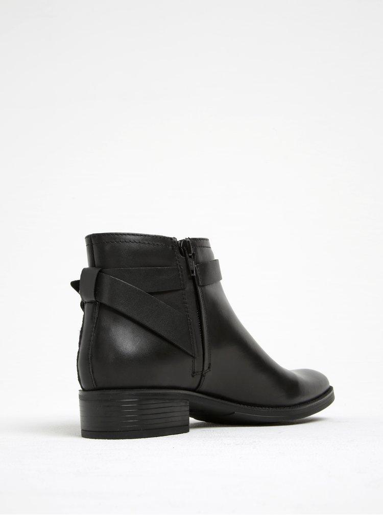 Černé kožené voděodpudivé kotníkové boty Geox Meldi NP ABX