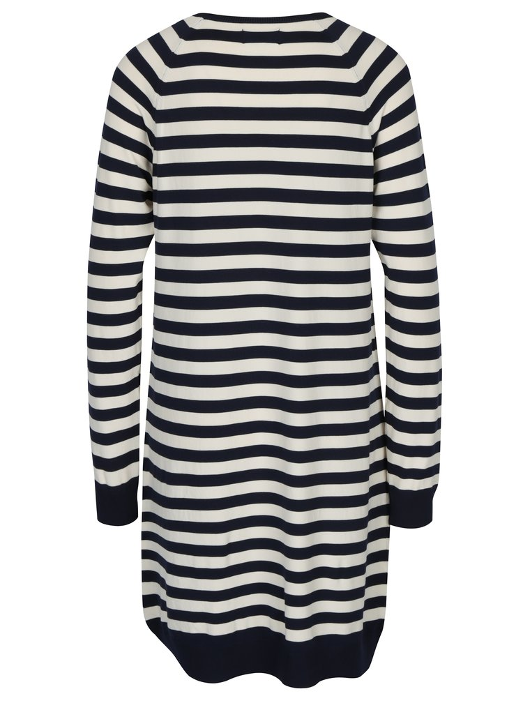 Krémovo-modré mikinové šaty s pruhy ONLY Bell Lisa
