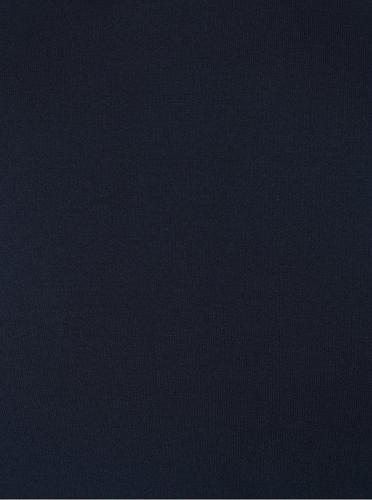 Tmavě modré midišaty s véčkovým výstřihem Selected Femme Elsie