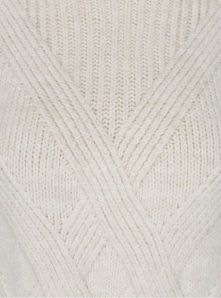 Krémový vzorovaný svetr s balónovými rukávy ONLY Luv