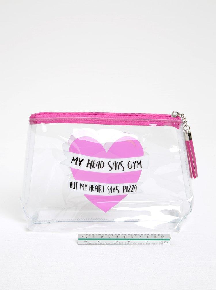 Transparentní dámská kosmetická taštička s potiskem CGB