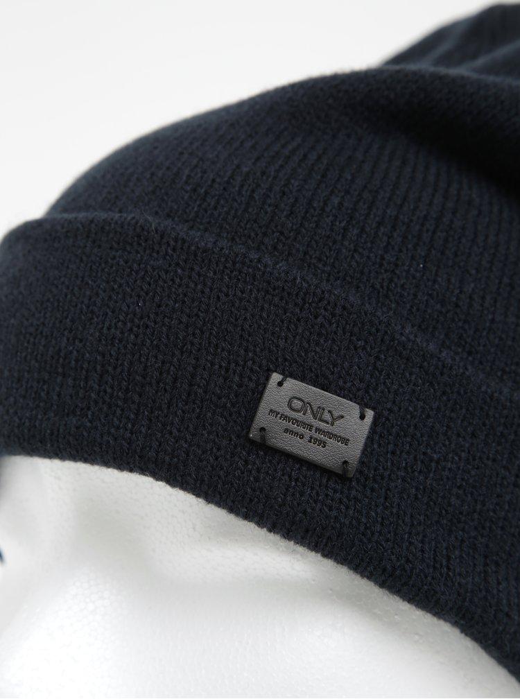 Tmavě modrá čepice ONLY Pasia