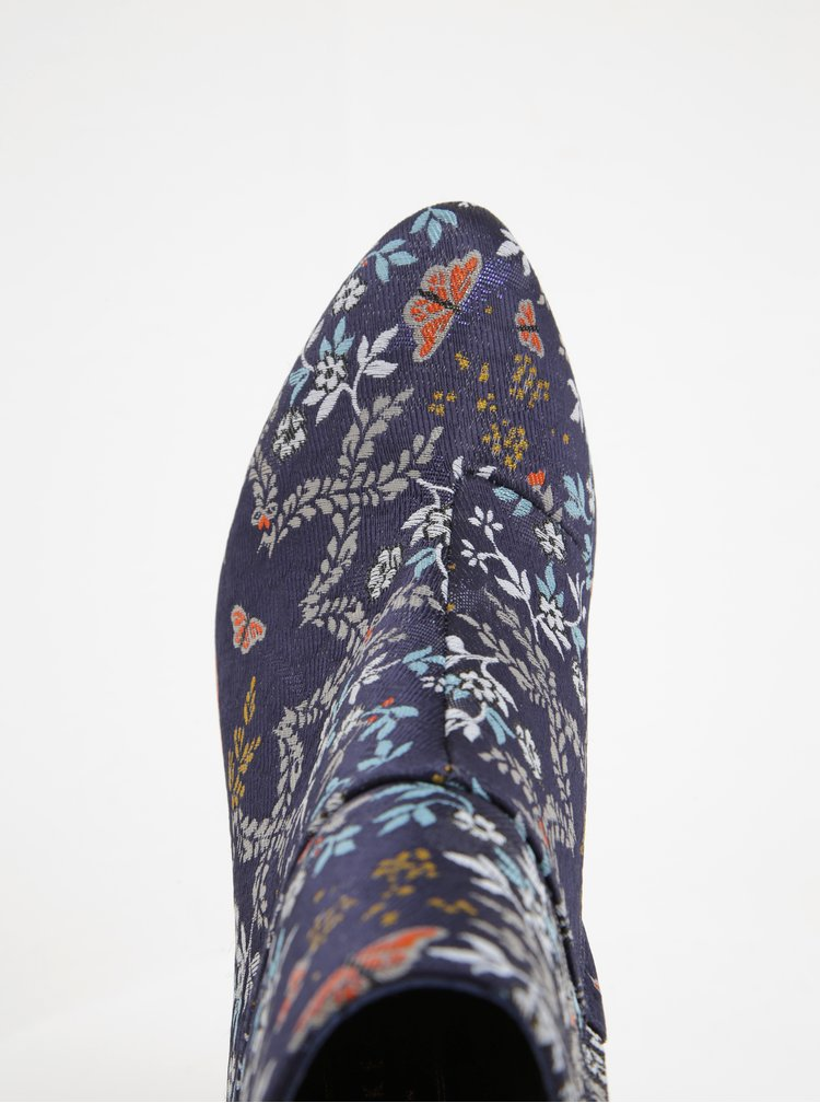 Modré květované kotníkové boty na podpatku Ted Baker Ishbel