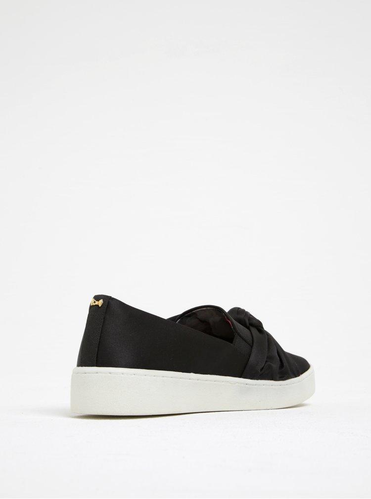 Pantofi slip on negri cu fundă și talpă contrastantă - Ted Baker Deyor
