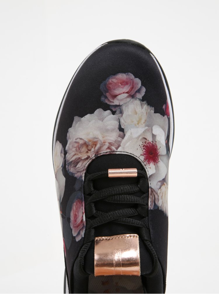 Čierne kvetinové tenisky Ted Baker Cepap
