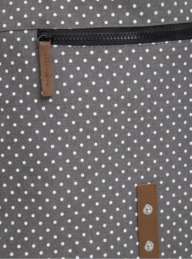 Rucsac gri cu print buline Enter Backpack Mini 8 l