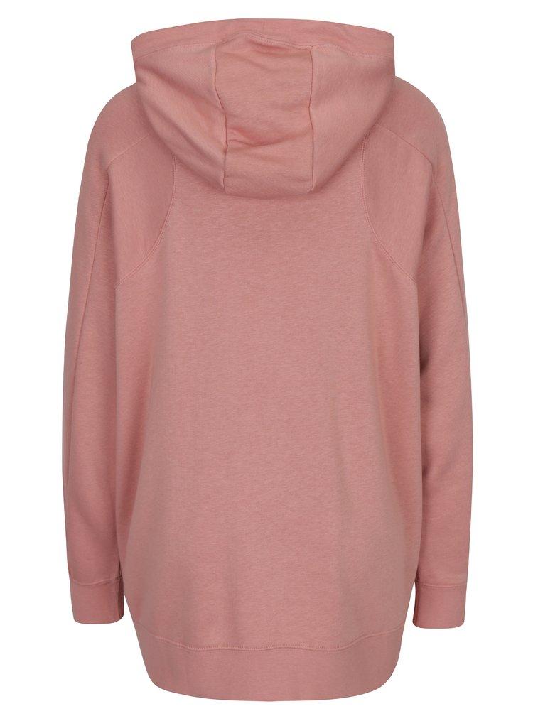 Růžová dámská mikina s kapucí Nike Sportswear Modern