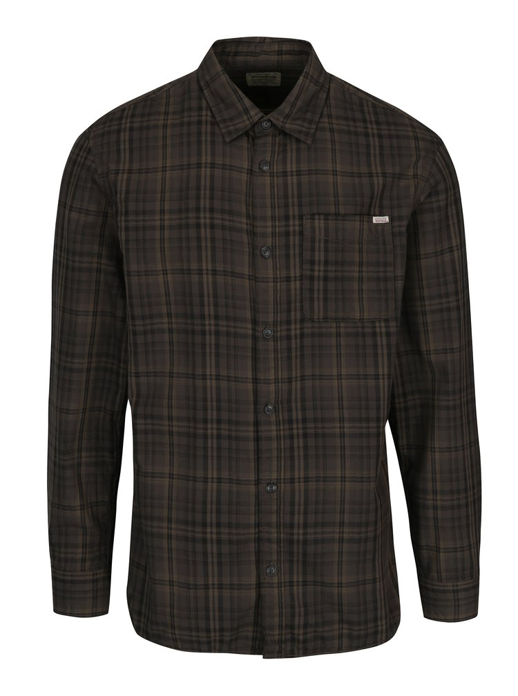 Camasa verde inchis in carouri - Jack & Jones Max