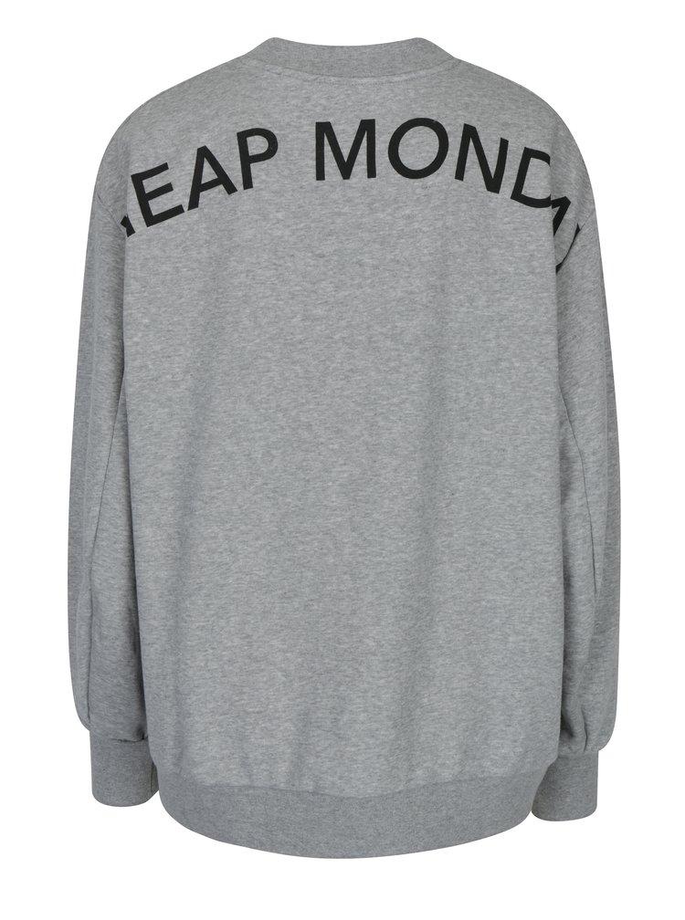 Bluză lejeră gri melanj pentru femei - Cheap Monday