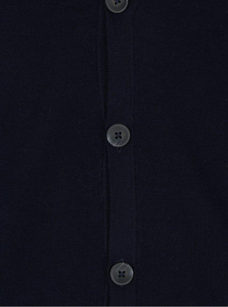 Modrý lehký cardigan z Merino vlny Jack & Jones Mark