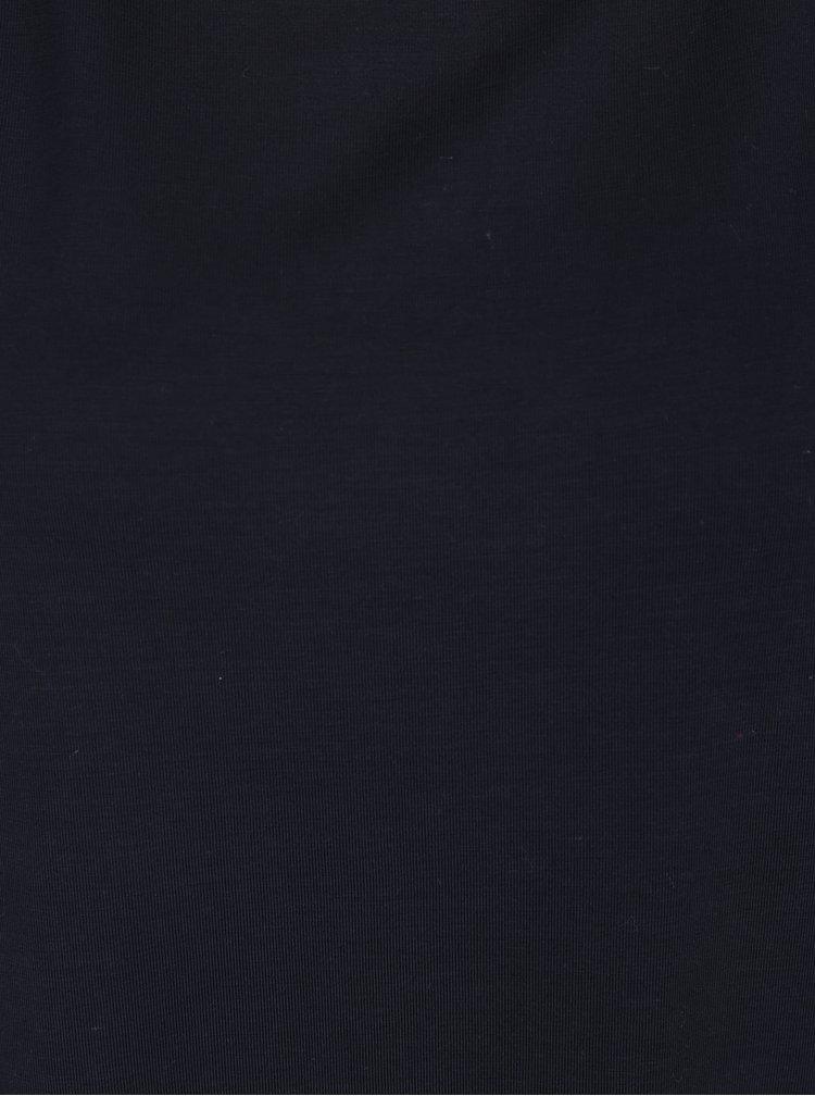 Tmavě modré tričko s krátkým rukávem VERO MODA Ava