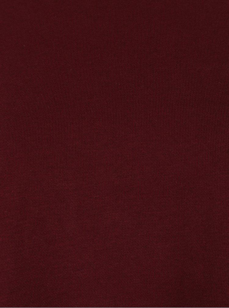 Vínová dámská volná mikina s rolákem Cheap Monday