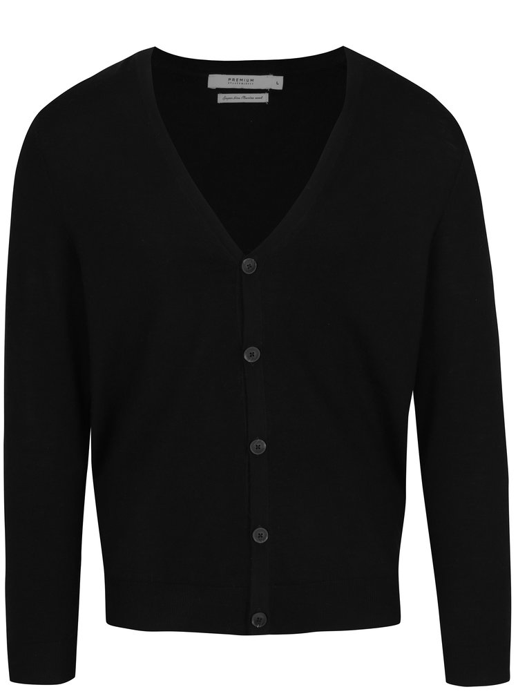 Cardigan negru din lana merino - Jack & Jones Mark