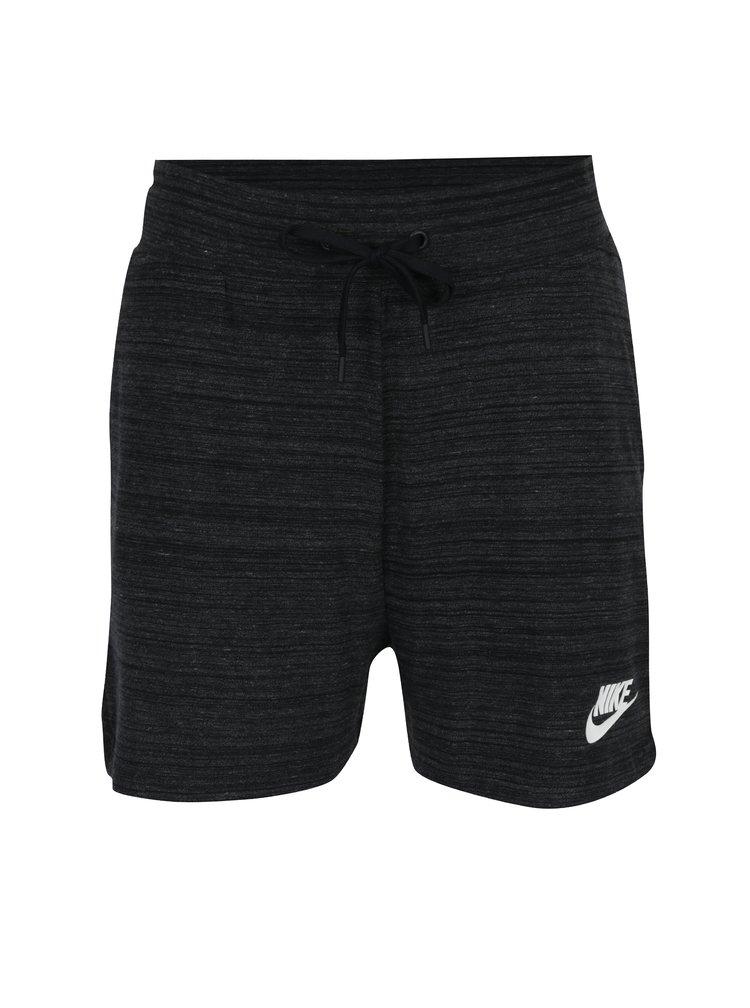 Pantaloni scurți sport negru melanj pentru femei  Nike Sportswear Advance 15